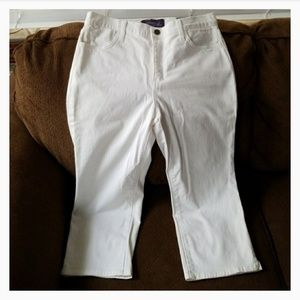 Not your daughter's jeans white jeweled capris